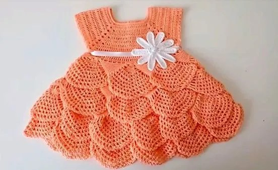 Diy Vestido Tejido A Crochet Para Bebé Canal Crochet
