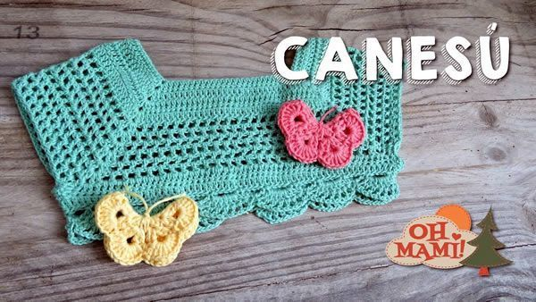 Canesú para niña a crochet