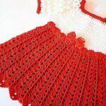 Vestido de niña tejido a crochet