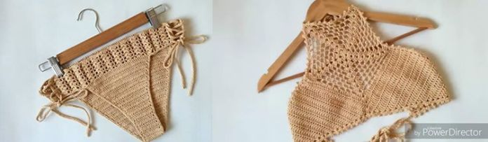 DIY Bikini tejido a crochet