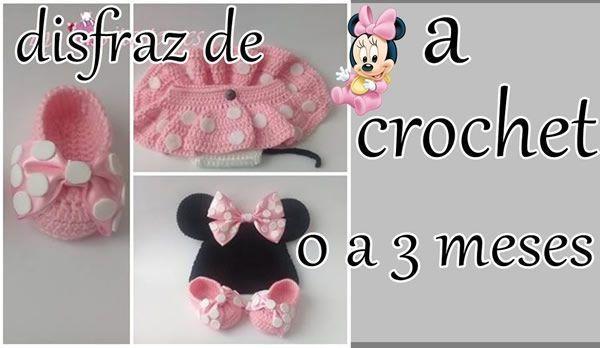 Disfraz Minnie Mouse a crochet para bebe