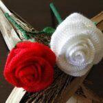 Rosas a crochet o ganchillo