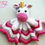 Mantita de apego unicornio