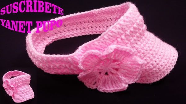 DIY Visera para chica tejida a crochet