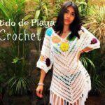 DIY Vestido de playa tejido a crochet