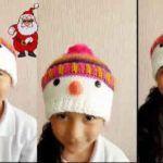 Gorro muñeco de nieve a crochet para niños