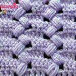 Punto Puff Zigzag crochet paso a paso