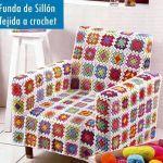 Funda de sillón tejida a crochet