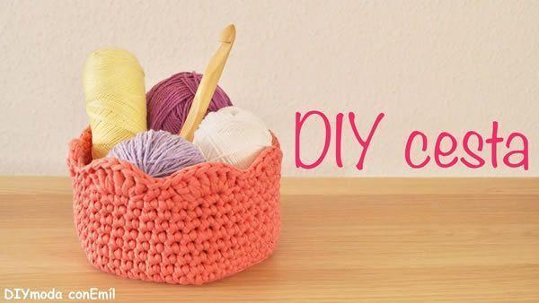 Como hacer una cesta de trapillo a crochet