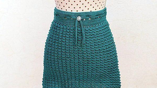 Falda a crochet todas las tallas