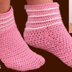 Pantuflas a Crochet fáciles tamaño adulto