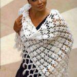 DIY Chal a crochet Violetta paso a paso