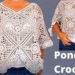 DIY Poncho a crochet con Granny Square