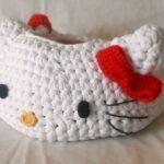 DIY Como hacer una cesta de Hello Kitty