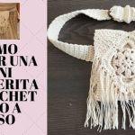 DIY Cartera tipo riñonera tejida a crochet