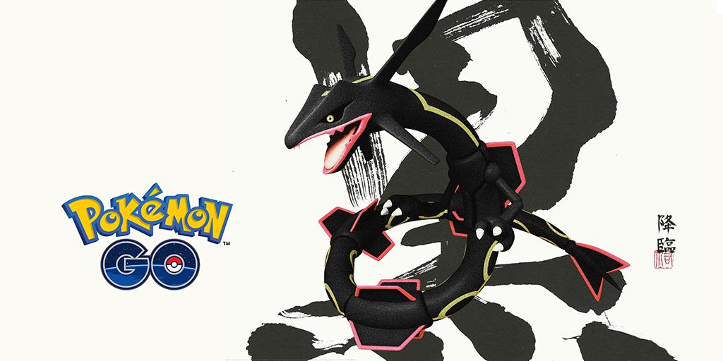 ¡Una incursión legendaria! Rayquaza Shiny llega a Pokémon GO