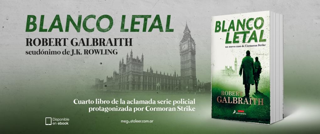 Conoce la nueva aventura policial de JK Rowling, «Blanco Letal»