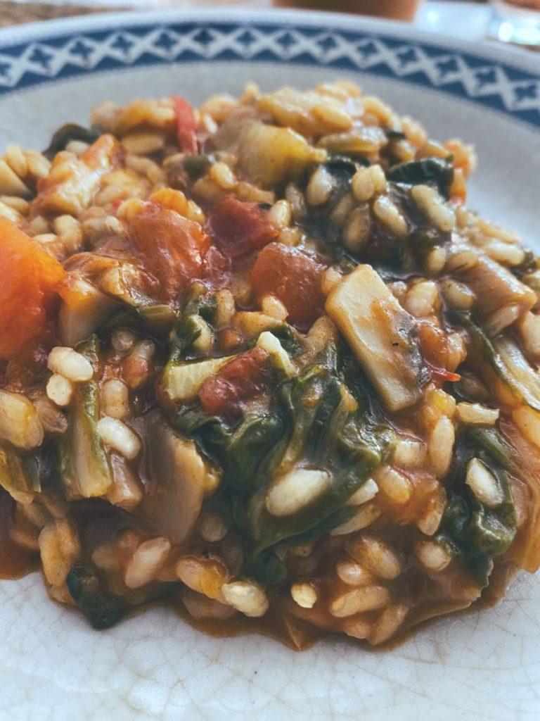 RECETAS PARA FRENAR LA CURVA: Arroz meloso de verduras