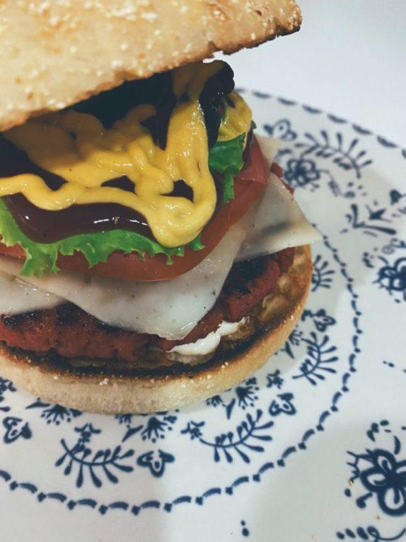 La hamburguesa prefabricada vegana