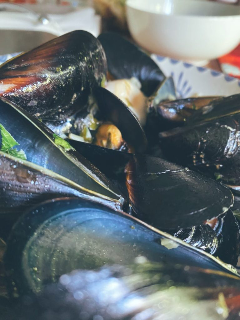 Las clóchinas en salsa marinera