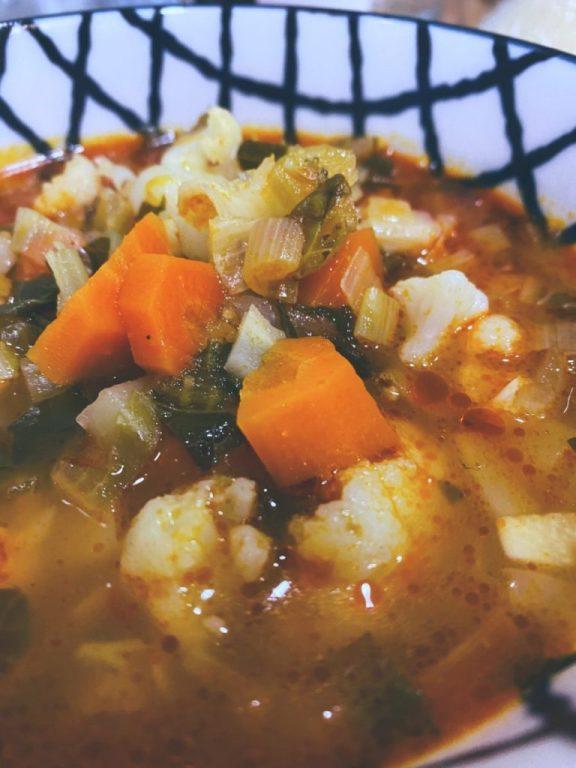 La sopa verduras ahorradas