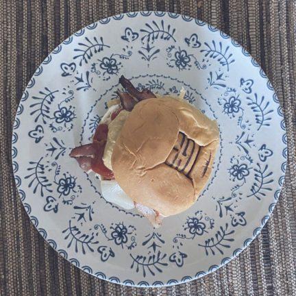 La hamburguesa de pollo en pan TGB