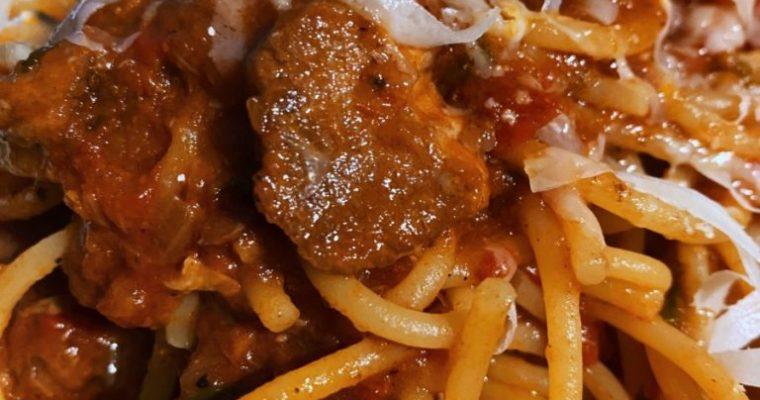 Los espaguetis con casi carcamusas