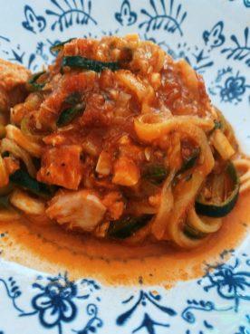 Los espaguetis de calabacín fáciles