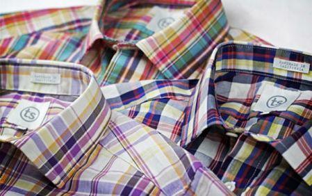 Camisas em xadrez madras