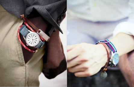 Mais um exemplo de como a pulseira do relógio pode contribuir para o mix.