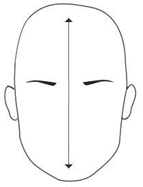 Neste tipo de rosto o maxilar e o queixo alongado dão a impressão de um  rosto mais estreito  a00a2a1ff9