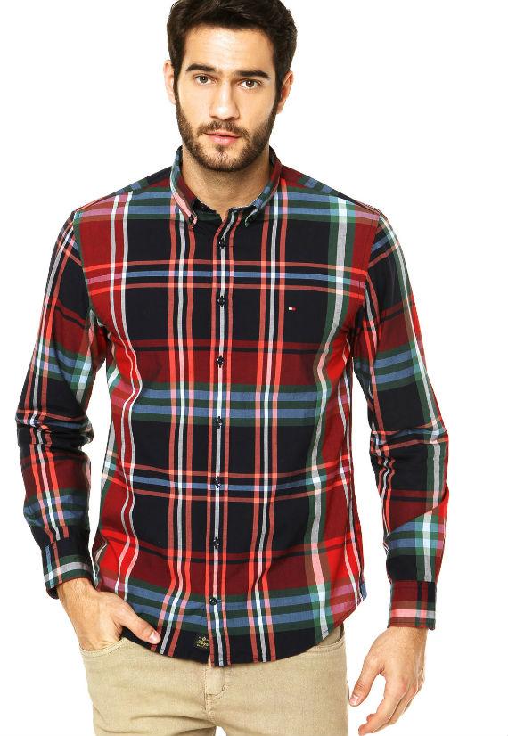 Camisa-Tommy-Hilfiger-Xadrez