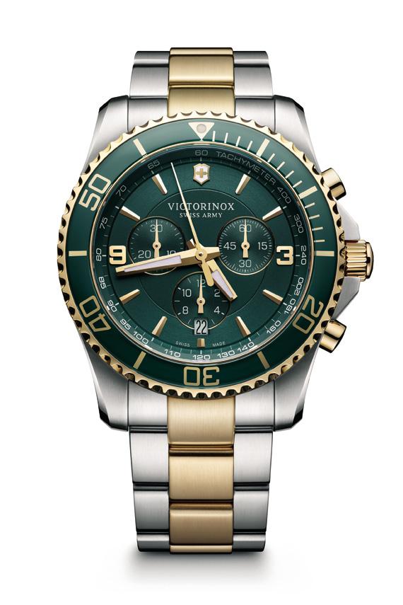 Victorinox-Maverick-Mostrador-verde-com-bracelete-bicolor