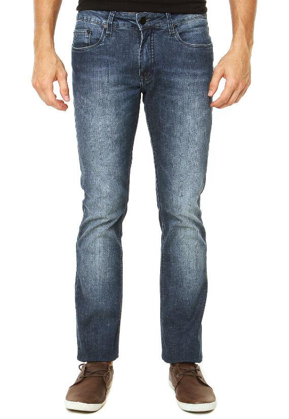 Calvin-Klein-Jeans-Calça-Jeans-Slim-Basic-Azul