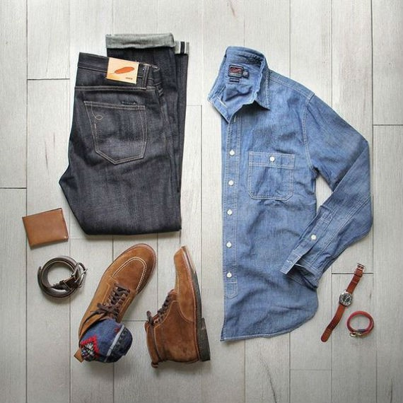 look-camisa-chambre-jeans-bruto