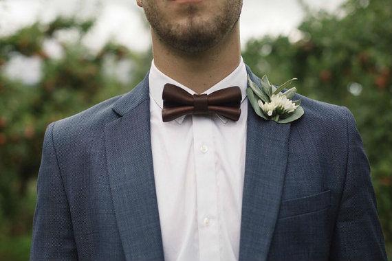 gravata-borboleta-marrom-vintage