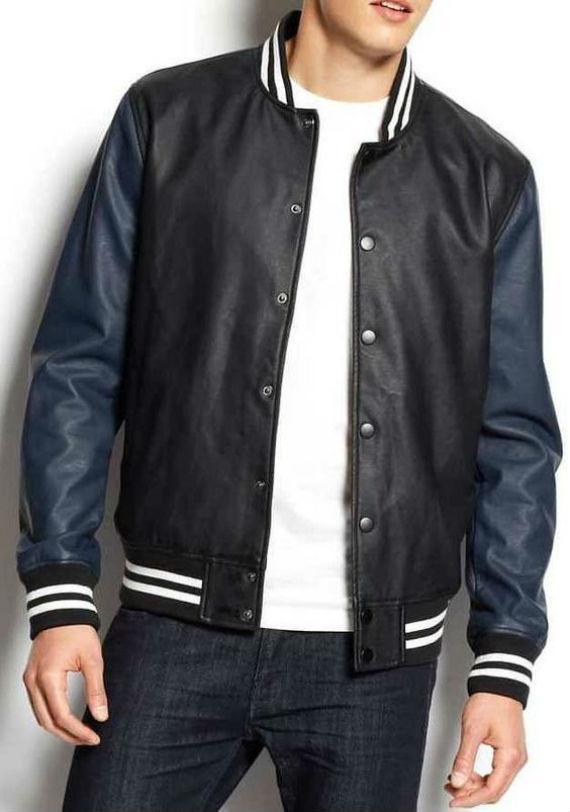 Tipos de jaqueta de couro - Varsity Jacket