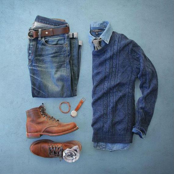 Tricôs Masculinos: O Clássico Suéter Aran