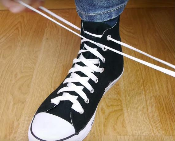 Ukranian knot - cadarço sapato ou tênis