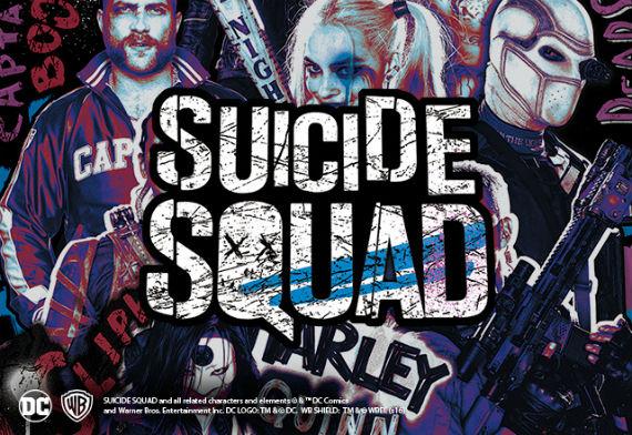 4 Marcas Apostam em Camisetas do Esquadrão Suicida