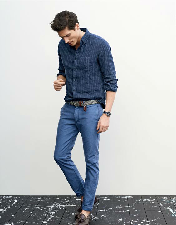 O Look Certo: Boas Escolhas Combinando Azuis