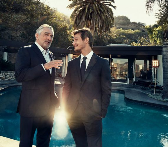 Robert De Niro e McCaul Lombardi em Campanha de Ermenegildo Zegna