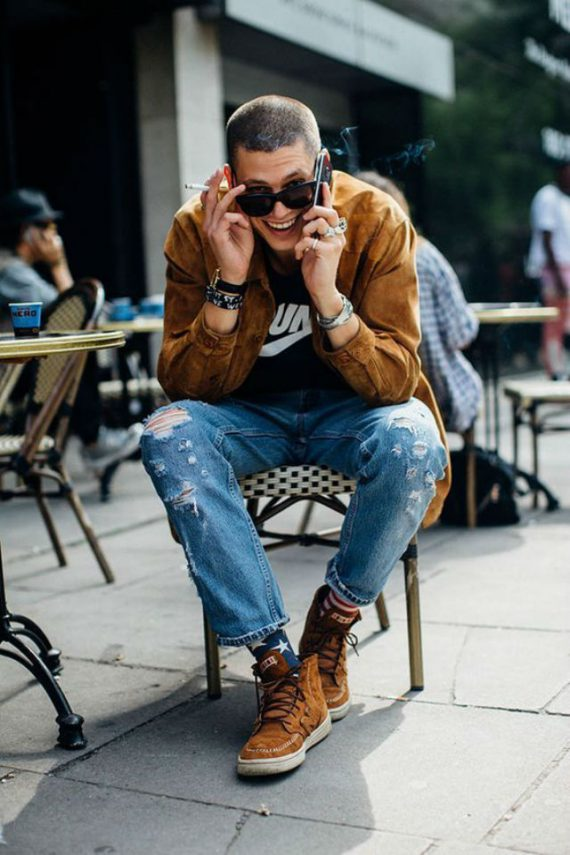 Jaqueta masculina de suede