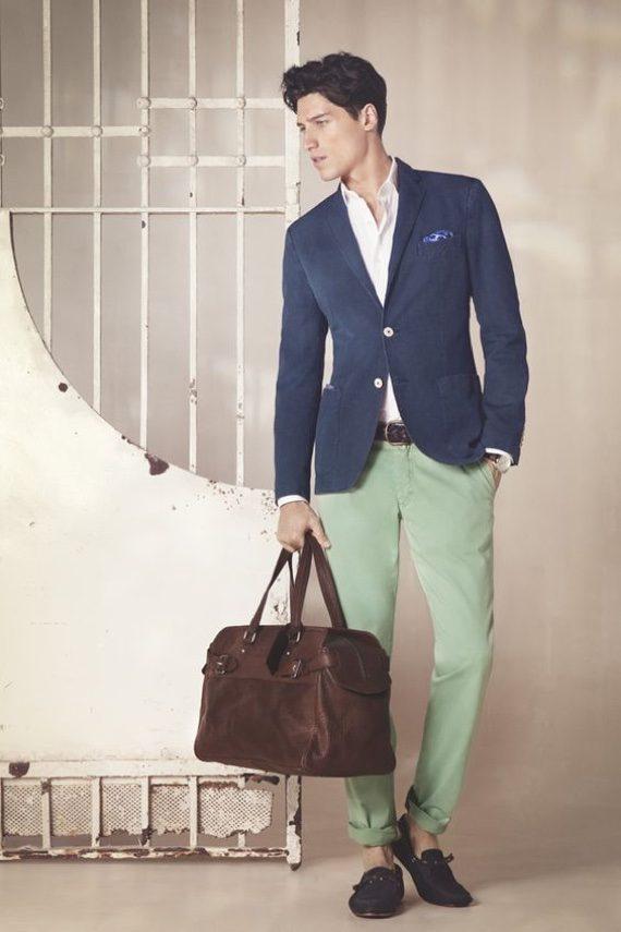 O Look Certo: Com Calça Chino Verde Claro