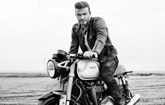Cinco Motoqueiros Famosos Que Esbanjam Estilo - David Beckham