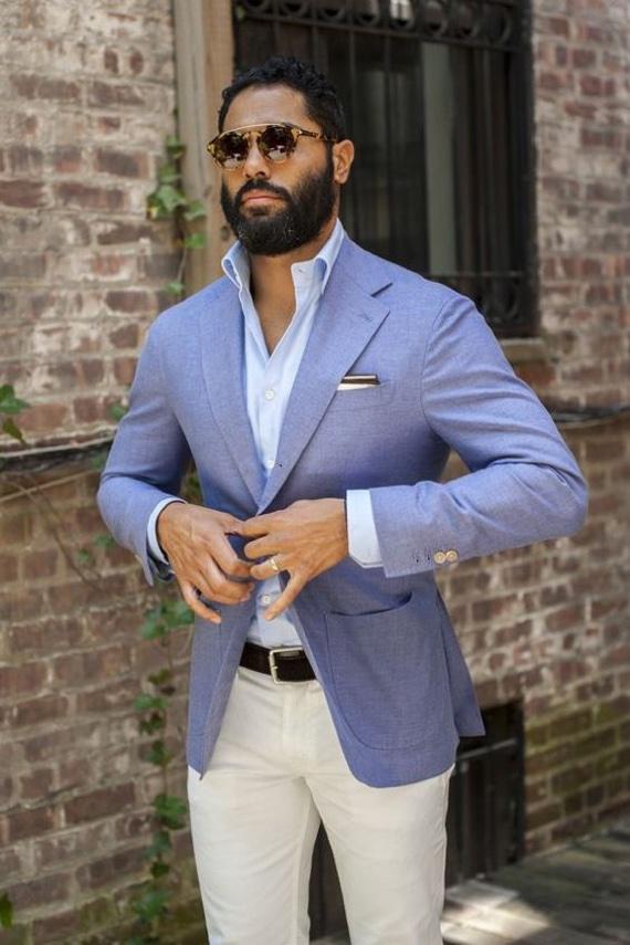 Camisa masculina azul claro