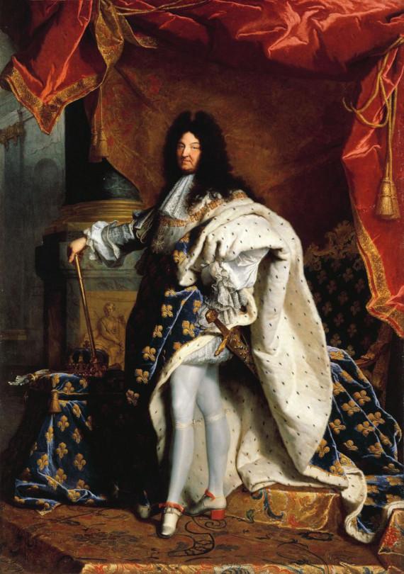 Rei Luiz XIV com sapatos de salto alto no século XVII
