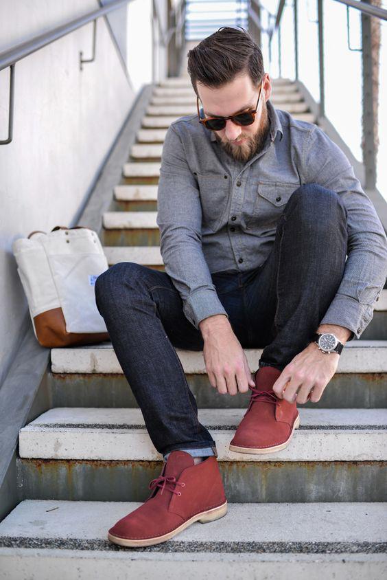 Roupas masculinas para o outono - Desert boots, botas