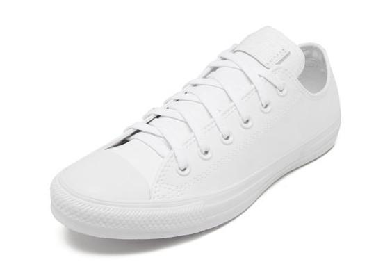 Converse Chuck Taylor All Star Monochrome Branco de Couro