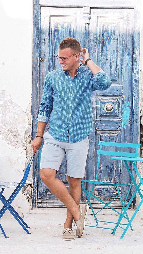 O Look Certo: de Camisa de Poá, Bermuda e Docksides